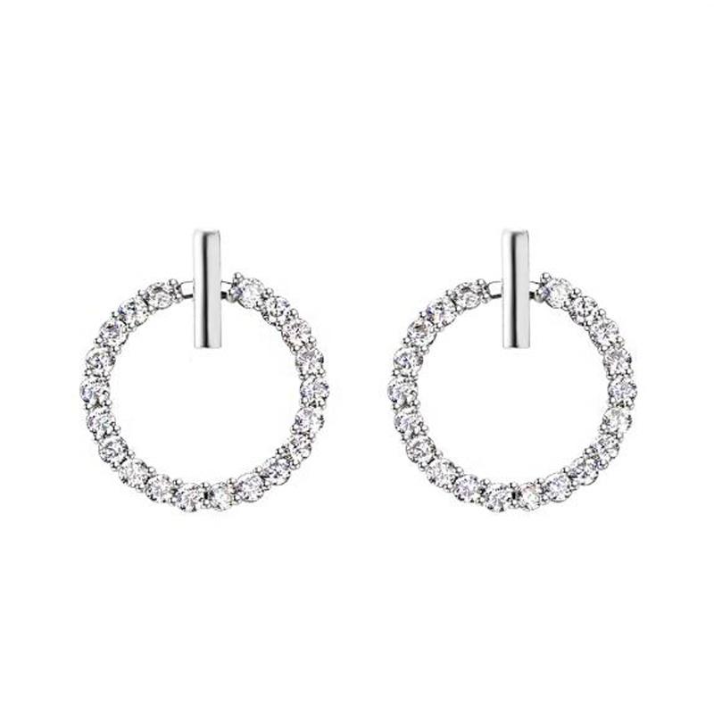 S925 ezüst szuper Flash Crystal Stud fülbevalók finom - Divatékszer