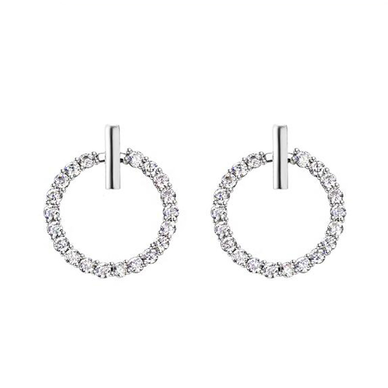 S925 Srebrna Super Flash Crystal Stud Earrings Izvrsna Temperament - Modni nakit