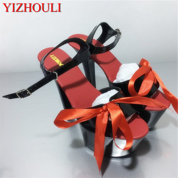 Stylish Sweet Lace-UP 17CM Sexy Super High Heel Platforms Pole Dance / Performance /Star/Model Shoes, Wedding Shoes, 3 Colours
