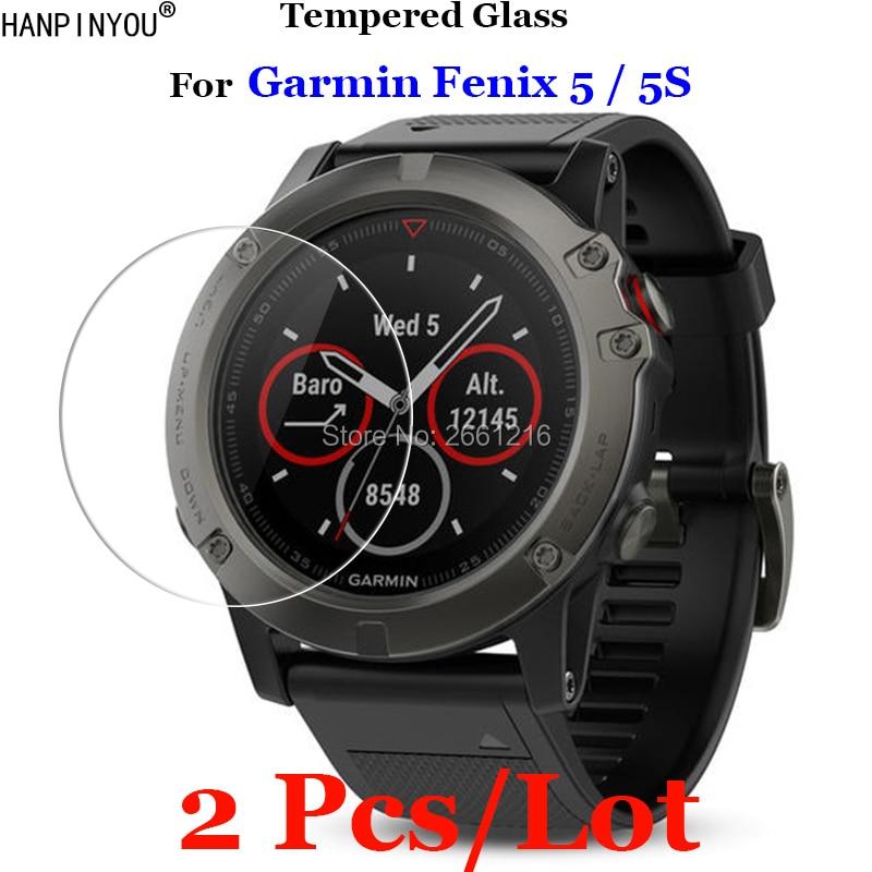 2 Pcs/Lot For Garmin Fenix 5 / 5s Tempered Glass 9H 2.5D Premium Screen Protector Film For Garmin Fenix5 / Fenix5s Smart Watch