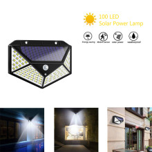 100 LED Solar Power Lamp PIR Motion Sensor Solar Wall Light Outdoor Waterproof Energy Saving Garden Security Lamp