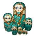 7 pçs/lote linda boneca de madeira toys bonecas do assentamento do russo de matryoshka da boneca caçoa o presente do bebê brinquedo da menina da boneca