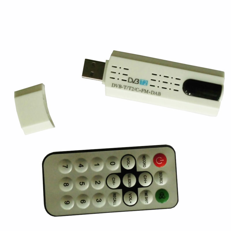 DVB t2 DVB C USB tv Tuner Receiver with antenna Remote ...