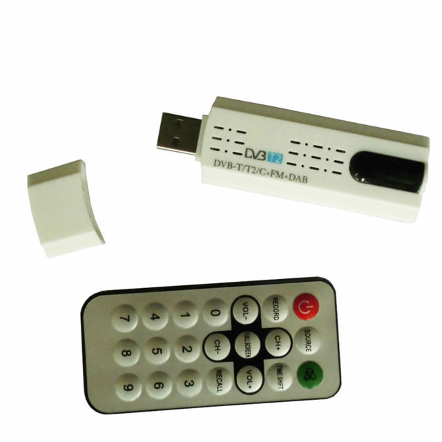 DVB t2 Receptor Dvb-c Sintonizador de tv USB con antena Remota DECODIFICADOR HD TV Receptor de DVB-T2 DVB-C FM DAB USB Tv palo