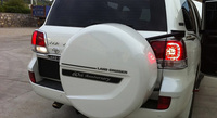 Rear Back Spare Tire Cover Trim Decoration Strip for Land Cruiser
