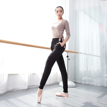 dance pants for women harem cotton ballet sports jogger practice hip hop black trousers