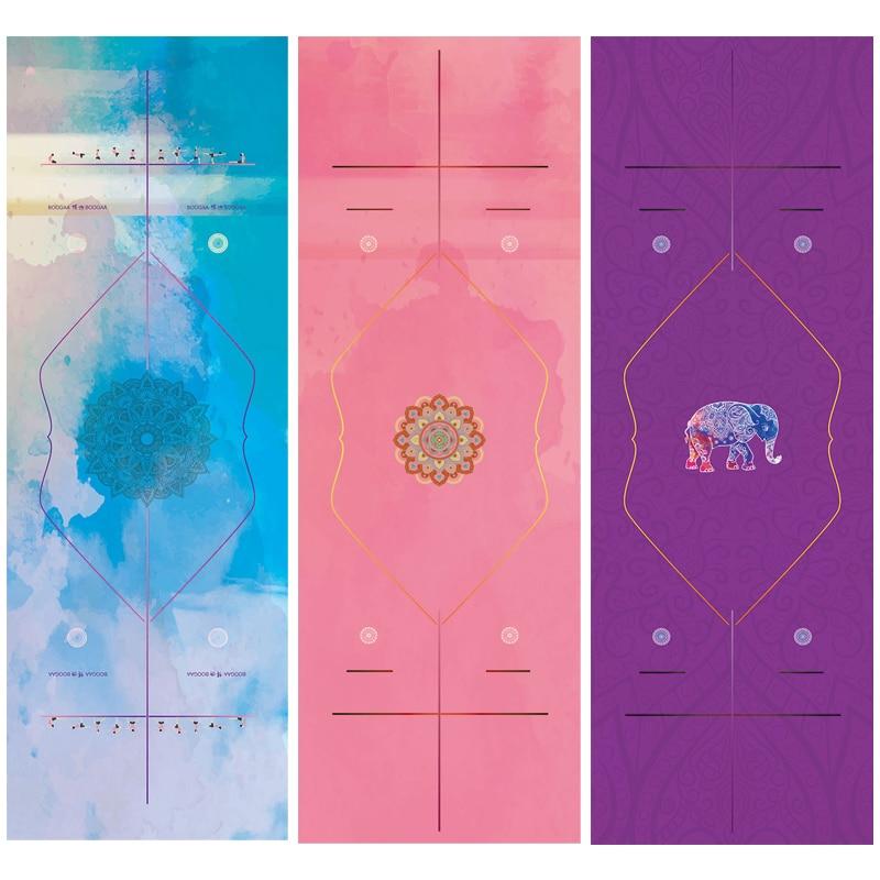 Ny Microfiber Symmetrisk Style Yoga Mat Handduk Sport Fitness Gym Motion Pilates Blankett Soft Beach Mat Handduk Tapestry