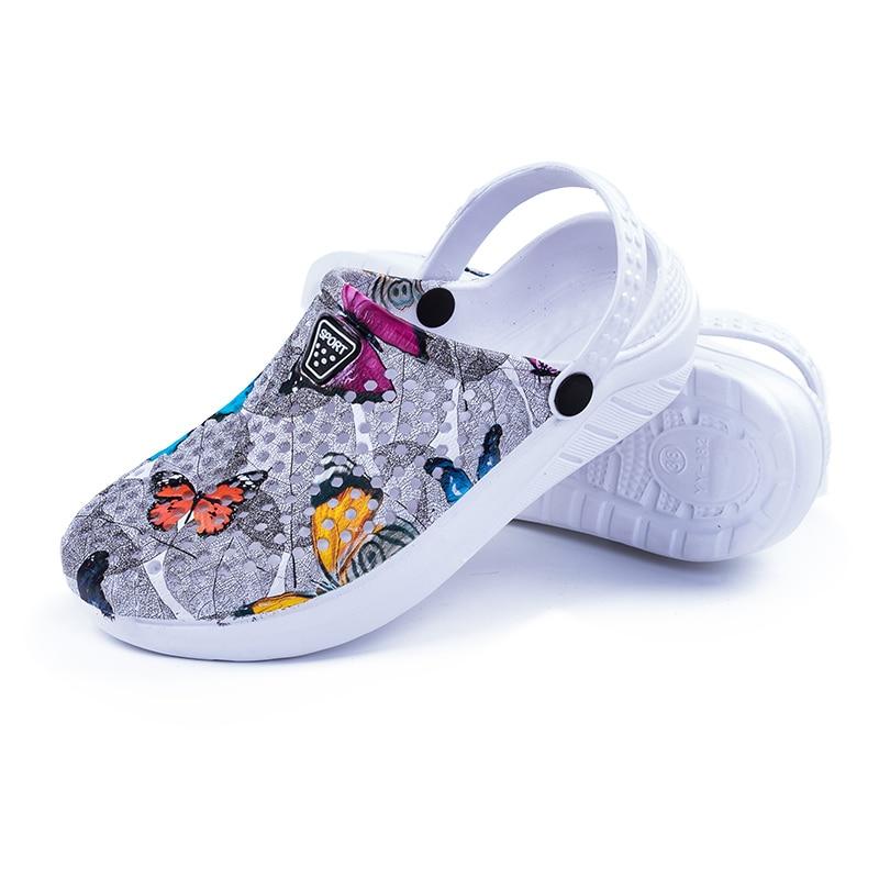 2019 Summer Women's Garden Sandals Breathable Beach Aqua Shoes Outdoor Wading Hollow-out Clogs Lightweight Swimming Slipper