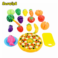 24 Pcs Set Plastic Fruit Vegetable Kitchen Cutting Toys Early Development And Education Toy For Baby