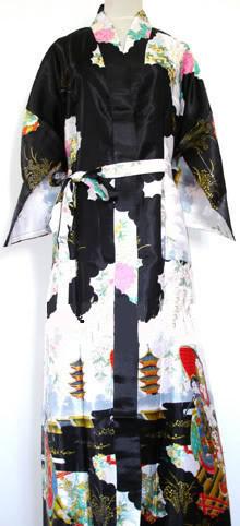 Nueva Llegada Negro de Las Mujeres Chinas de Seda Rayón Robe Kimono Bath Vestido primavera Mujer Pijama Camisón Tamaño Sml XL XXL XXXL Zhs02E