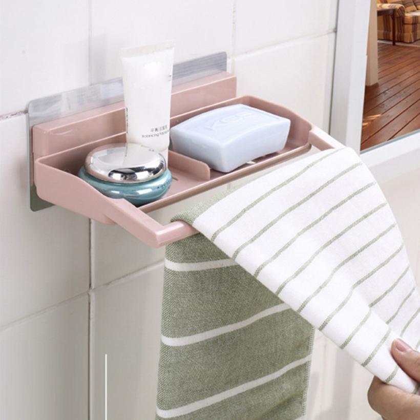 1PC Strong Suction Suker bathroom soap holder Shower Rack Soap Towel ...