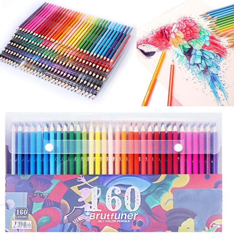 72/120/160 Cores Conjunto de Lápis De Cor De Madeira Lápis De Cor Lápis de cor Pintura A Óleo do Artista Desenho Escola esboço material de Arte