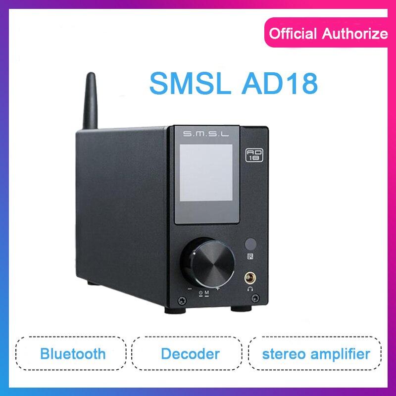 ASD SMSL AD18 amplificateur stéréo Audio HI-FI Bluetooth 4.2 prise en charge complète de l'ampli de puissance numérique apt-x USB DSP 2.1 pour haut-parleur