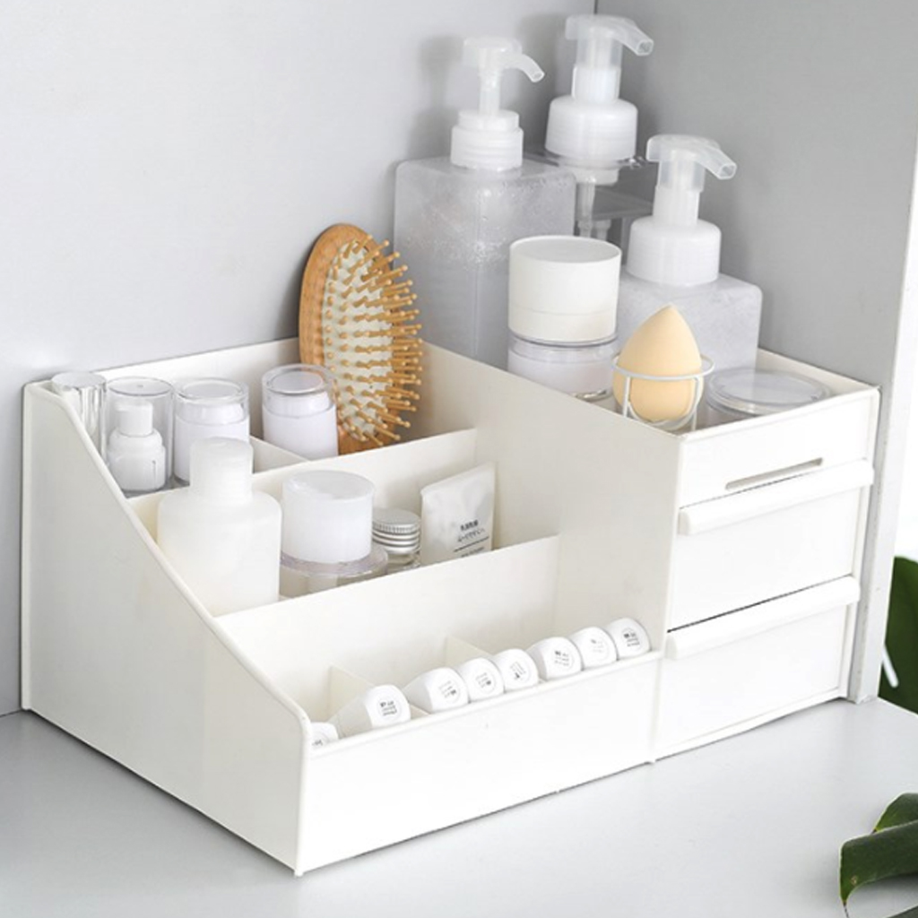 Plastic Cosmetic Drawer Makeup Organizer Makeup Storage Box Jewelry Nail Container Holder Desktop Sundry Storage Case