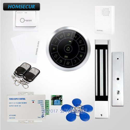 HOMSECUR New Silver Round Access Control System with Touch Keypad + 280KG Magnetic Lock все цены