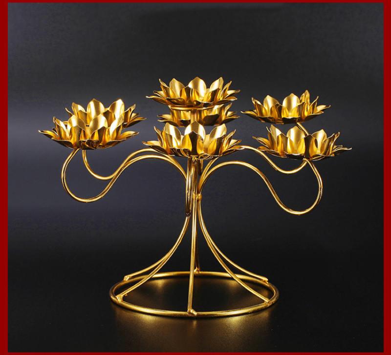 lotus shape buddha butter lamp candle holder 77