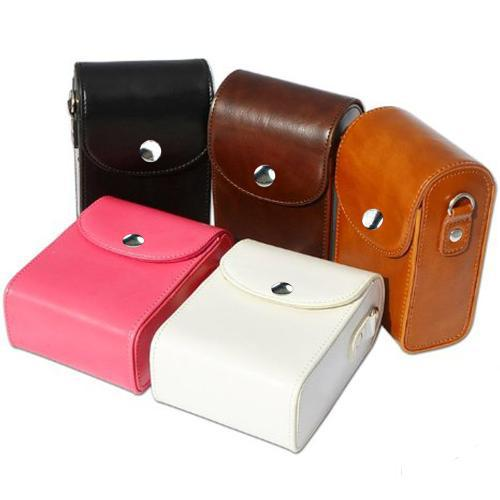 Leather Protective Compact Camera Case Bag for <font><b>Samsung</b></font> WB30F, WB35F, WB50F, WB150F, <font><b>WB250F</b></font>, WB800F, WB850F, EX2F Digital Camera image