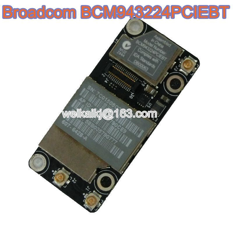 BroadCom BCM943224PCIEBT BCM43224 Wireless WIFI WLAN+BT Bluetooth Card For Airport A1278 A1286 A1297 607-6503-A 607-714