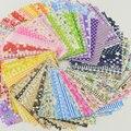 Tela tela de algodón alijo packs encanto patchwork tela que acolcha tilda ningún diseño de repetición tissue 50 piezas 10 cm x 10 cm