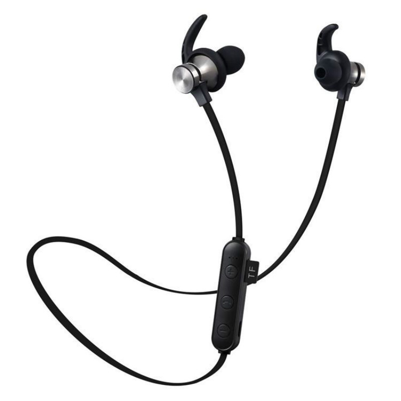 XT22 Sports Wireless Bluetooth Earphone Magnetic Attraction Headset 3D Stereo Bass Waterproof Sports Headphone with Mic TF Card