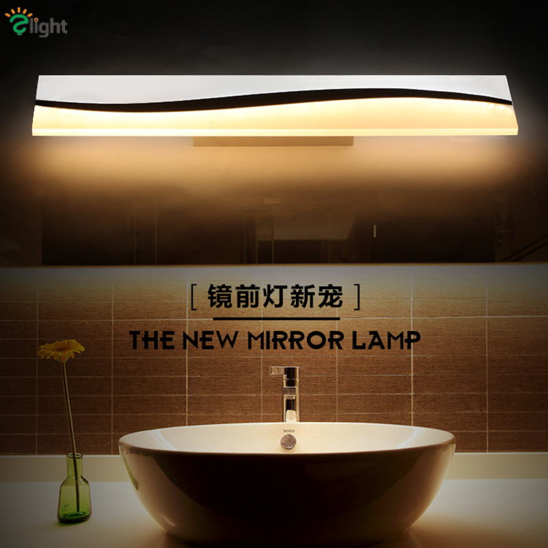 ФОТО Modern Simple Acrylic Led Wall Lights Creative Surface Mounted Bathroom Led Wall Lamp Novelty Rectangle Mirror Led Lighting Lamp