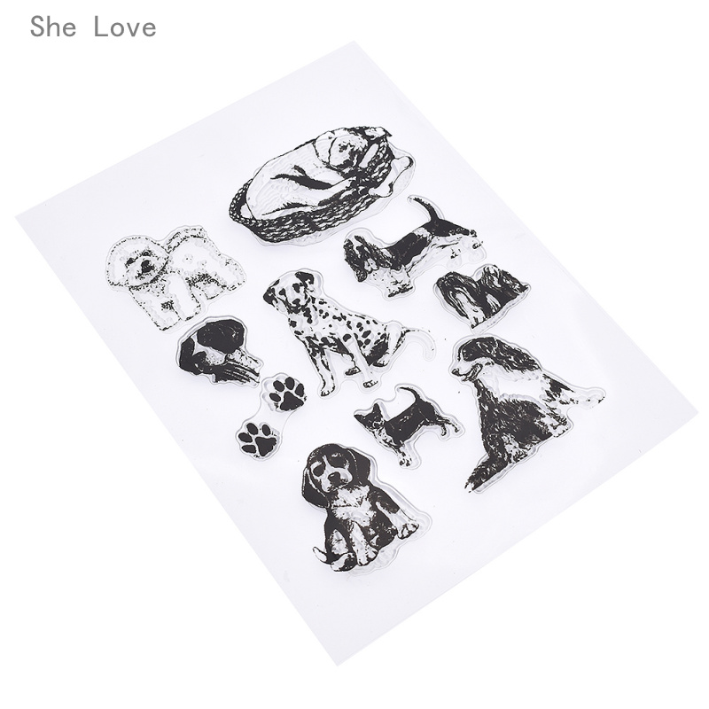 She Love Pet Dog Silicone Clear Stamp For Scrapbooking DIY Album Cards Making Decoration Transparent Rubber Stamp