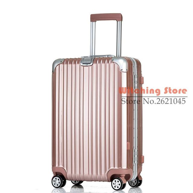 22 INCH  2022242629# Star same section of the aluminum alloy frame bar metal bag angle travel box 20/24/26 checked ba