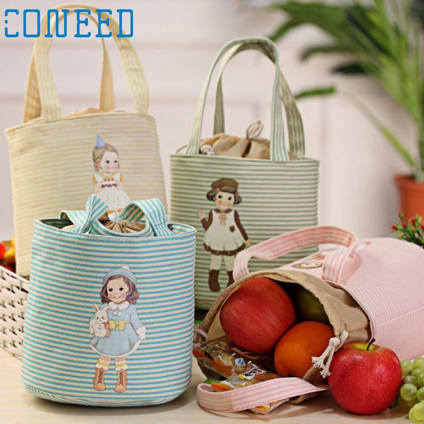 Lovely Girl lunch storage bag Thermal Insulated Box Tote Cooler Bag Bento Pouch Lunch Storage BagLevert Dropship feb24