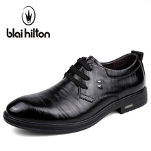 Blaibilton Business Formal Dress Men Shoes Oxford Brand Genuine Leather Classic Office Wedding Mens Casual Italian SD157296
