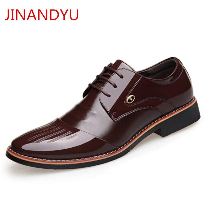 Height Increasing 6cm Men Dress Shoes Black Patent Leather Formal Shoes Men Brown Black Wedding Elevator Oxford Shoes for Men