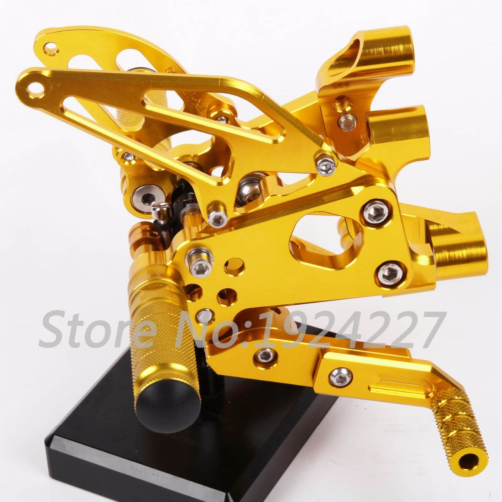 Motorcycle Footrest Adjustable Foot Pegs Rearsets For Ducati Panigale 1199 1199iS 1199R 2012-2013 Motorcycle Foot Pegs Golden