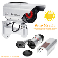 Solar Power Dummy Fake Camera Outdoor Security CCTV Surveillance Simulation Camera With Flash LED Light