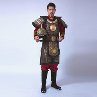 high quality ancient dynasty costumes china historical general armor suit for men soldier armor costumes halloween cosplay