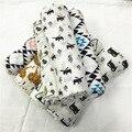 A LA VENTA! 1 Unids 120*120 cm Tela de Muselina Swaddles Algodón Del Bebé Recién Nacido Mantas de Bebé Doble Capa de Gasa Toalla de Baño Tienen envuelve