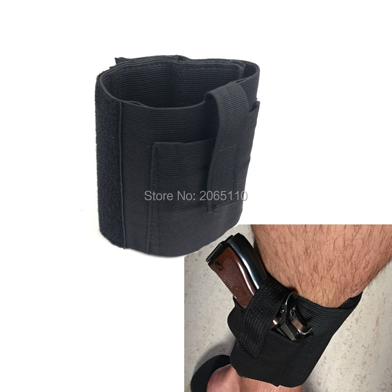 High quality Concealed Carry Pouch Universal Ankle Leg Gun Holster LCP LC9 PF9 Small Auto RH Case Black image