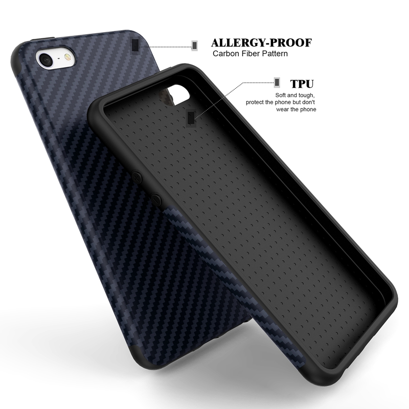meet e4530 37db8 Luxury Elegent High Quality Carbon Fiber Soft Case For iPhone 5 5S SE  Leather Skin 3D Texture Tire Defender Cover For iPhone SE-in Fitted Cases  from ...