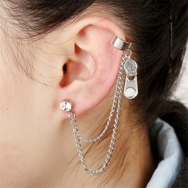 2017 New arrival punk earrings Gold color stud earrings ...