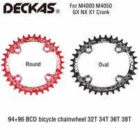 DECKAS 94 + 96 BCD ruota di catena della bicicletta Rotonda/Ovale 32T 34T 36T 38T MTB della bici corona Mountain Corona per M4000 M4050 GX NX X1 Manovella