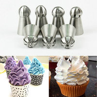 7pcs Lot Metal Stainless Steel Frame Professional Cake Decorators Russian Pastry Nozzles Piping Tips For Kitchen