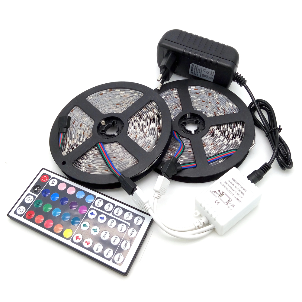 10M LED Strip Light 5050 RGB 600LED Flexibel Strip Light Set + 44Keys - LED-belysning