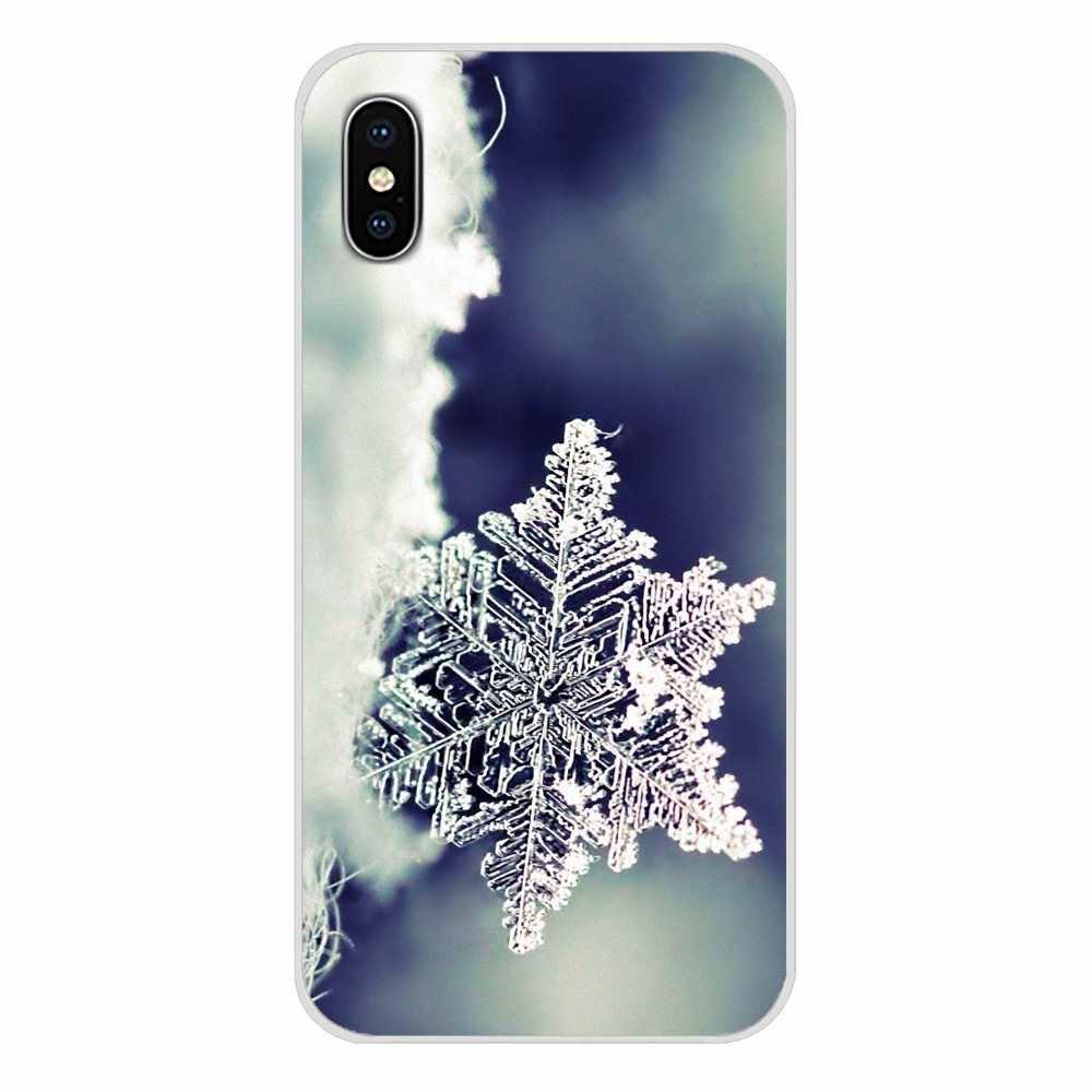 อุปกรณ์เสริมโทรศัพท์เปลือกครอบคลุมฤดูหนาวหิมะเกล็ดหิมะสำหรับ Nokia 2 3 5 6 8 9 230 3310 2.1 3.1 5.1 7 Plus สำหรับ LG Q6 7 8 9 X Power