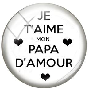 Us 254 49 Offtafree French Letter Design Je Suis Un Papa Genial 25mm Diy Glass Cabochon Dome Picture Keychain Necklace Charms Accessories In
