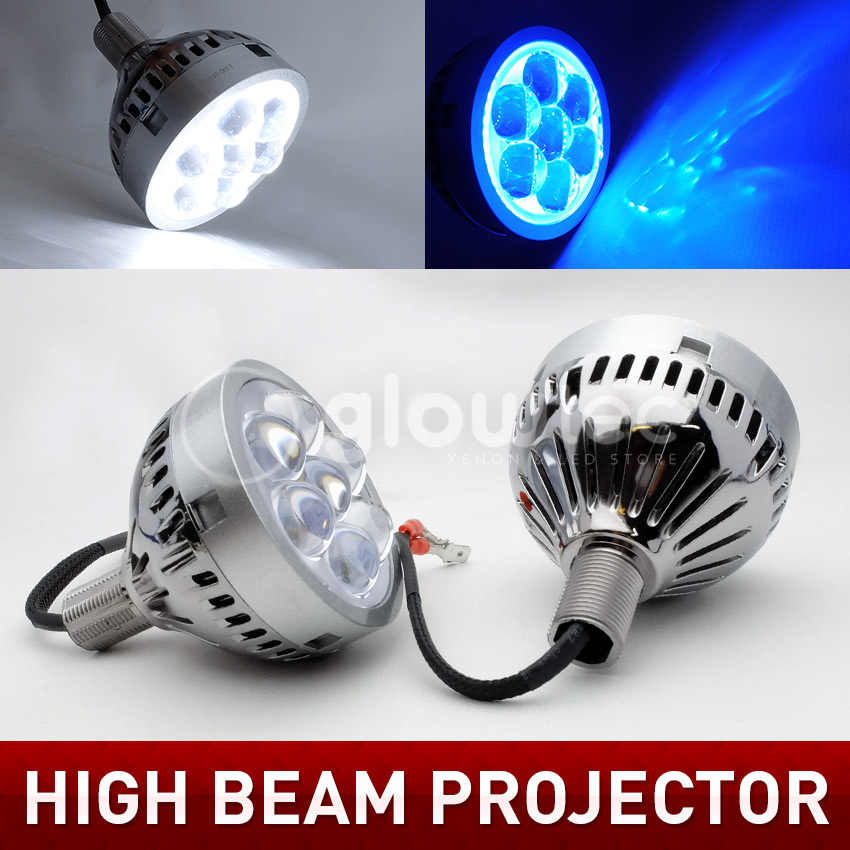 2pcs Car LED Projector Lens  3.0 inch For High Beam Light With Devil Eye D-RL H1 H7 9005 9006 LED Headlight Light Lens Q45 Style