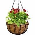 De coco metade rodada vaso pendurado vasos de vidro vasos de decoração de jardim de plantas de flores