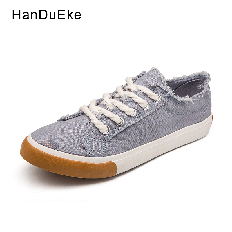 Classic Canvas Shoes Women 2018 Spring Summer Female Flats White Green Blue Khaki Round Toe Lace Up Casual Sneaker Large Size 44 vintage embroidery women flats chinese floral canvas embroidered shoes national old beijing cloth single dance soft flats