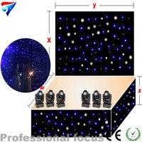 Free Shipping 5mx12m Led Light Starry Sky Lighting Fiber Optic Led Star Curtain Fireproof