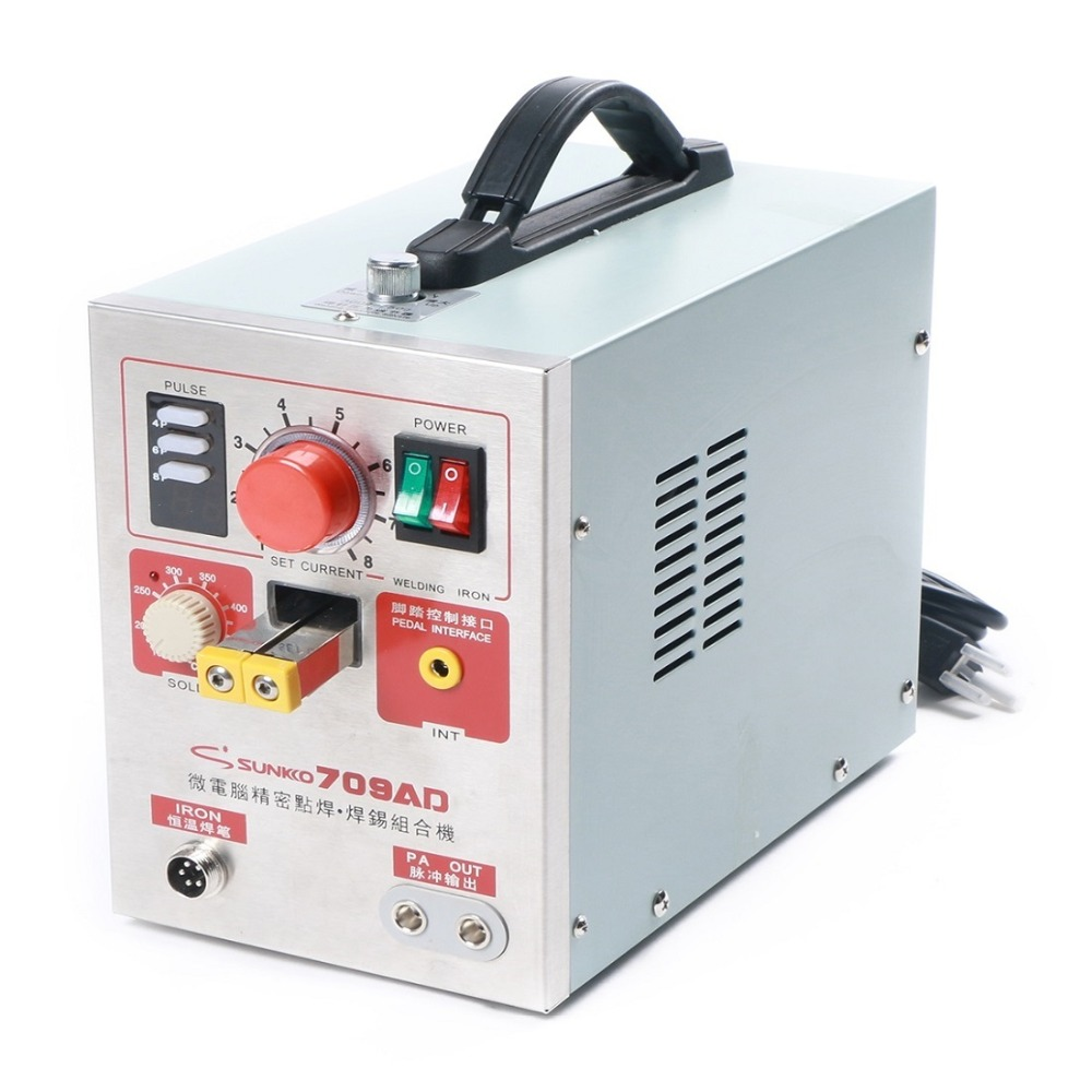 US $272 99 |SUNKKO 709AD Battery Spot Welder Solder with Pulse Display  1 9kw portable spot welder to make battery pack-in Battery Packs from  Consumer