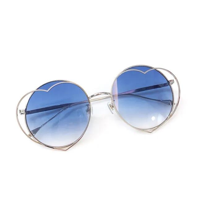 Round Sunglasses Fashion Women 2019 Alloy Frame Retro Mirror Sun Glasses Lady Female Vintage Brand Designer UV400
