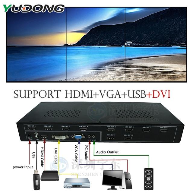 Yd tv06 3x2 2x3 6x1 video wall controller hdmivgadviusb ledlcd yd tv06 3x2 2x3 6x1 video wall controller hdmivgadviusb ccuart Choice Image