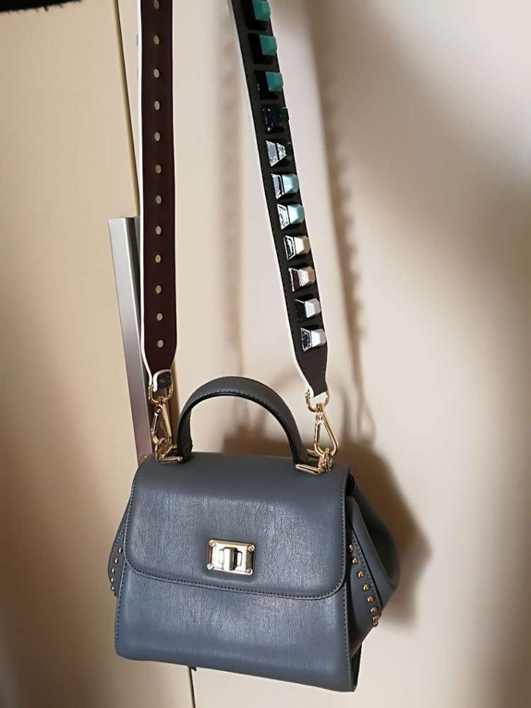 Anse Sac A Main Rivet accessoires voor wilde tas met verbrede schouderriem sac chaine Driedimensionale klinknagelaccessoires voor tassen photo review